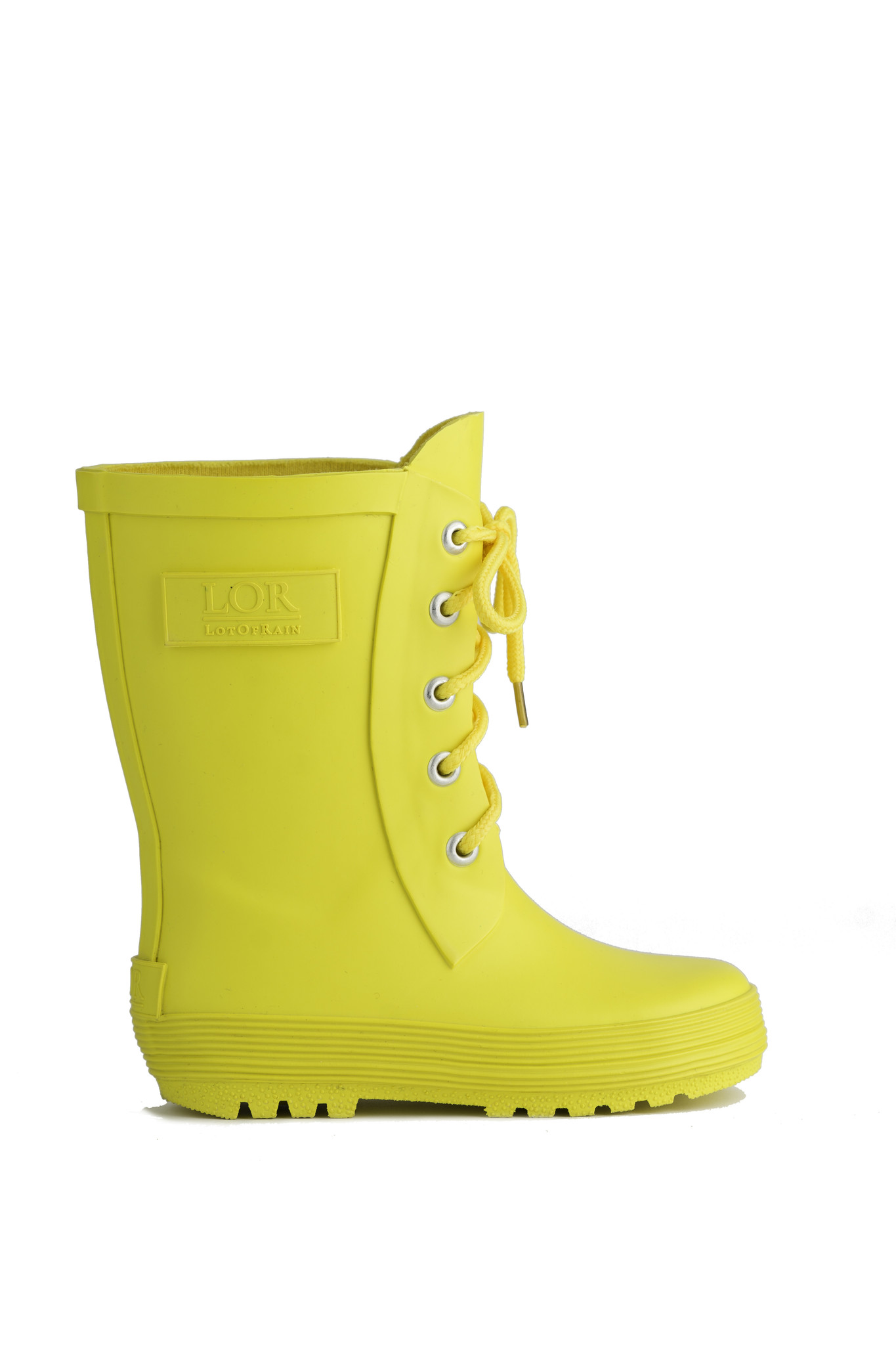 Rain boots with lace - Yellow-1