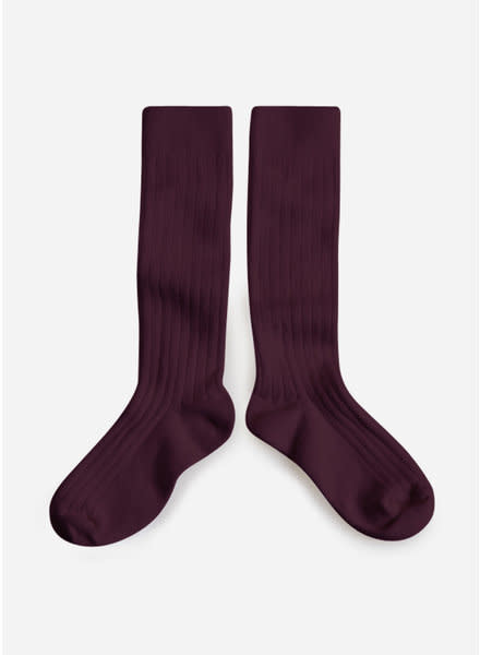 Knee Socks 'La Haute' Aubergine-1