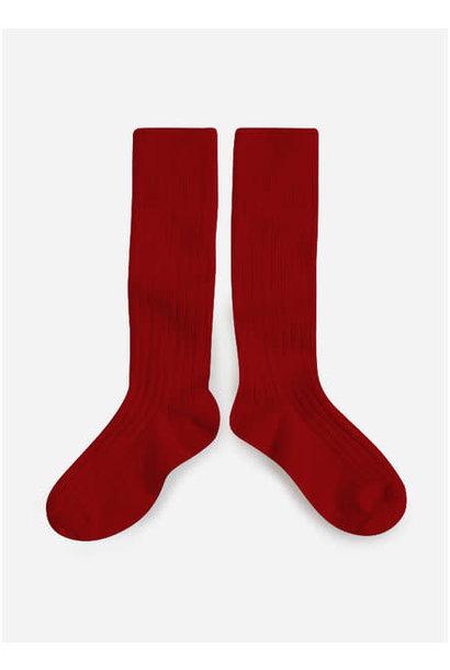 Collégien Knee Socks Rouge Carmin