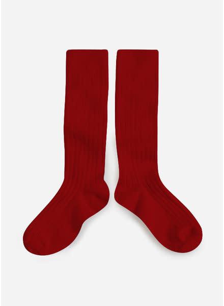 Collégien Knee Socks Rouge Carmin-1