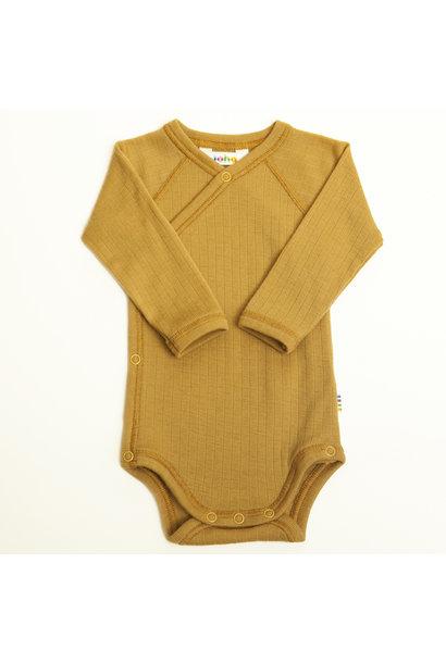 Wrap-over bodysuit - wool-silk