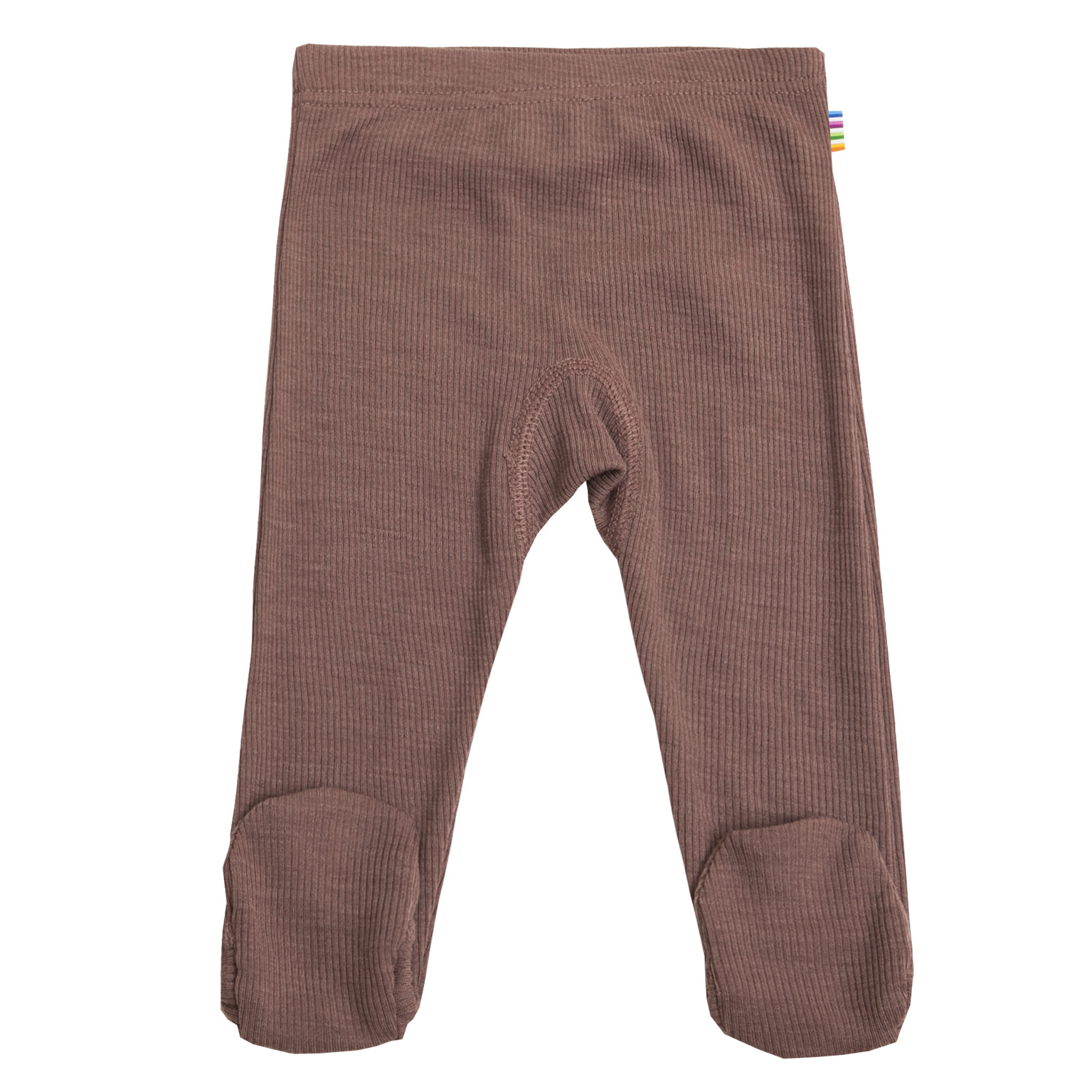 Baby pants with feet rib - wool-silk-1