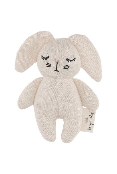 Wit konijntje rammelaar