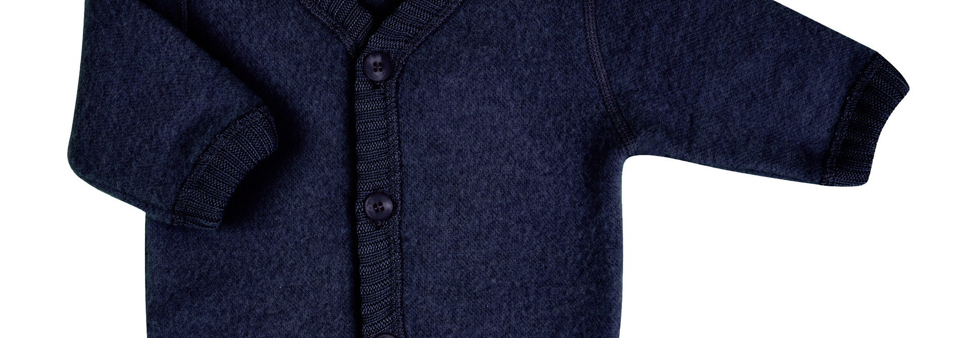 Vest with buttons - wool-fleece