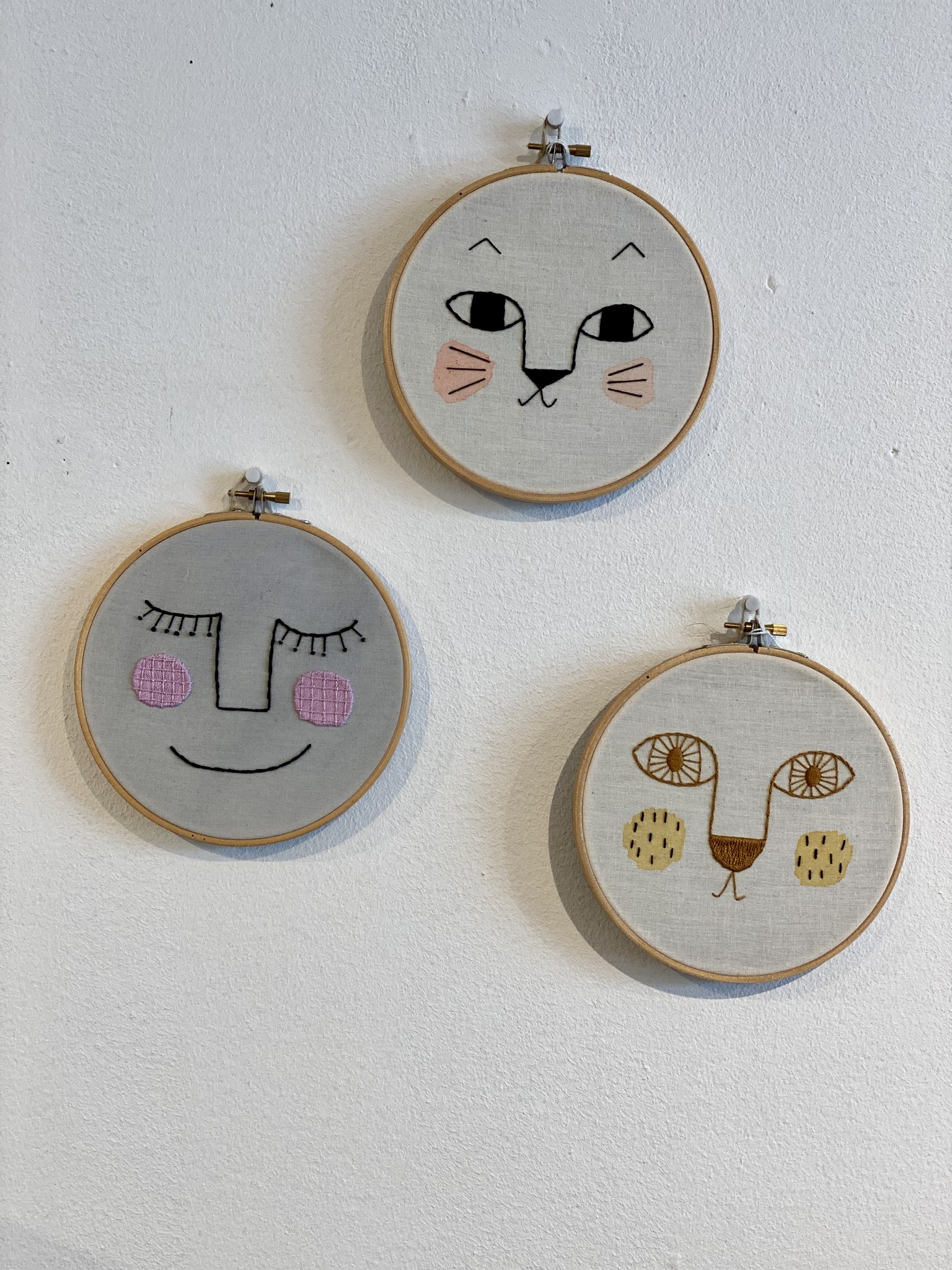 Embroidered wall hangings-4