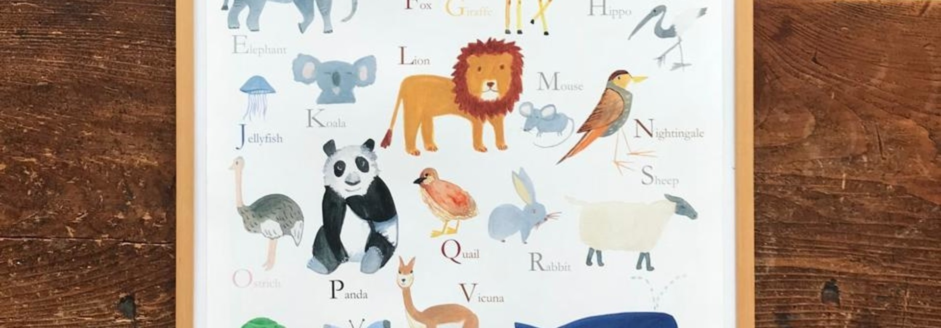 Poster ABC animals