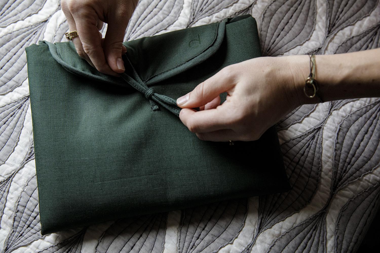 Changing Mat  -  Cotton blend - Marram Green-3