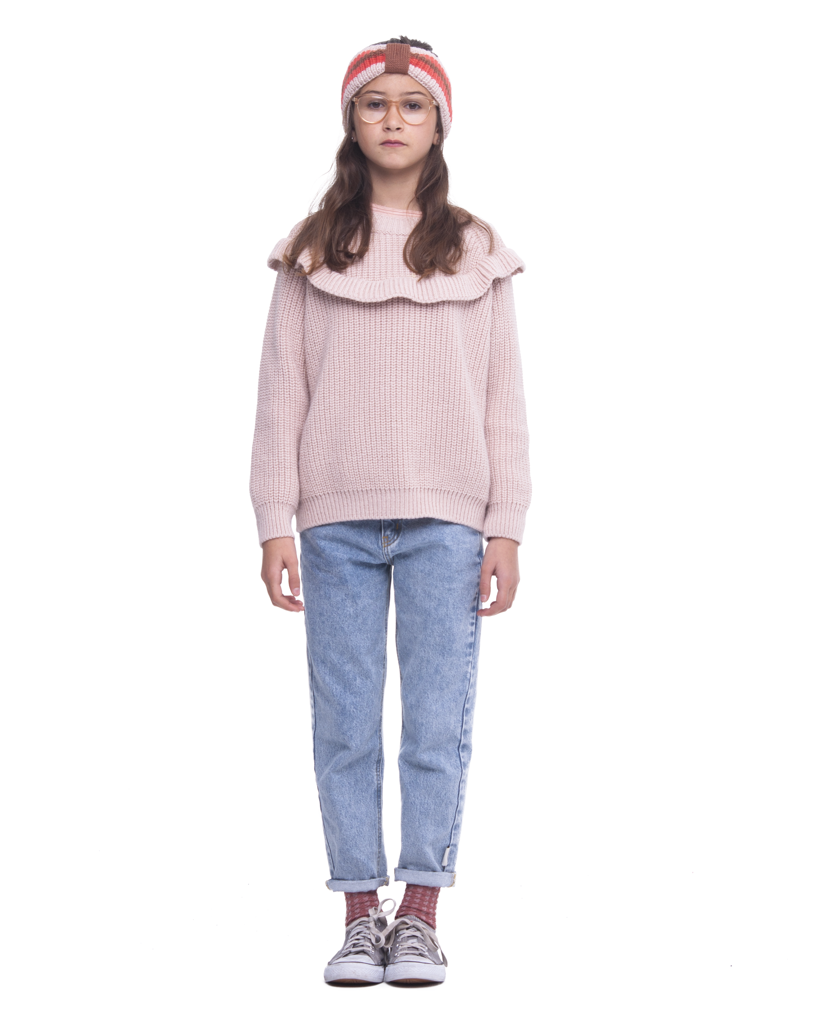 Sweater Frills pale pink-3