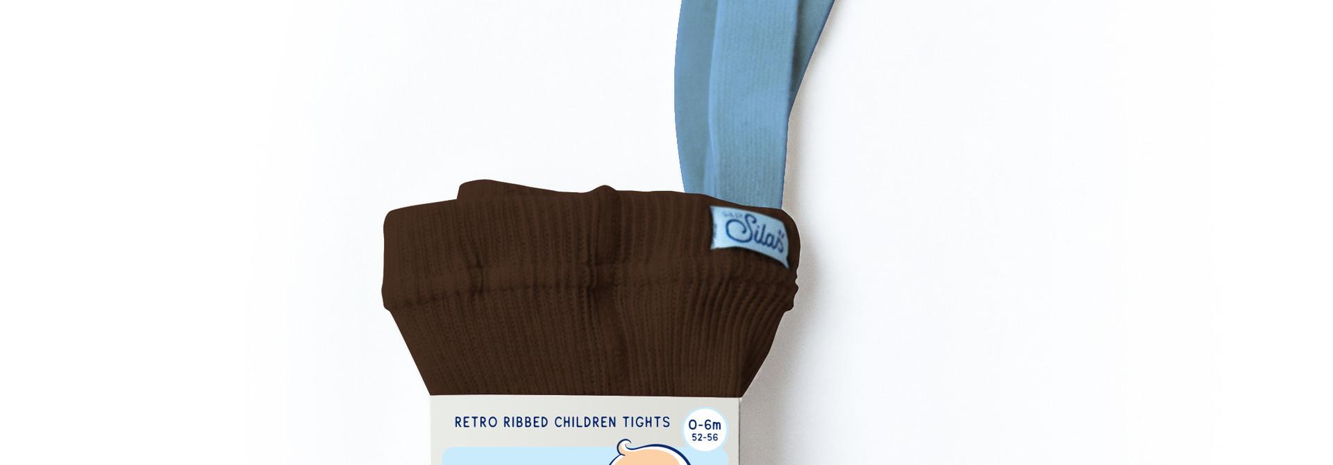 Tights - Brown Light Blue