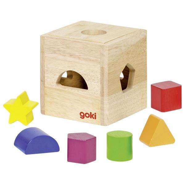 Wooden sorting box Rainbow-1