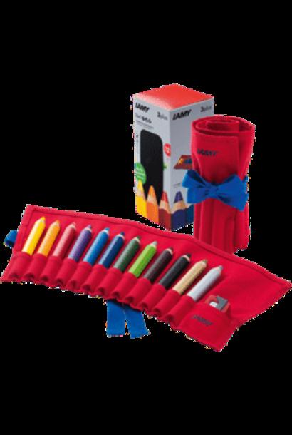 Coloured pencils travel set 3plus
