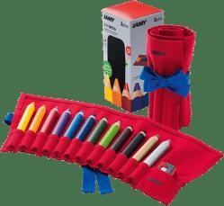 Coloured pencils travel set 3plus-1