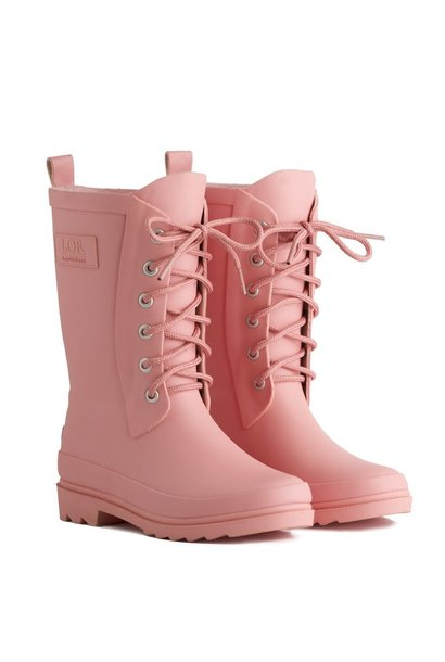 Rain boots with lace - Pink