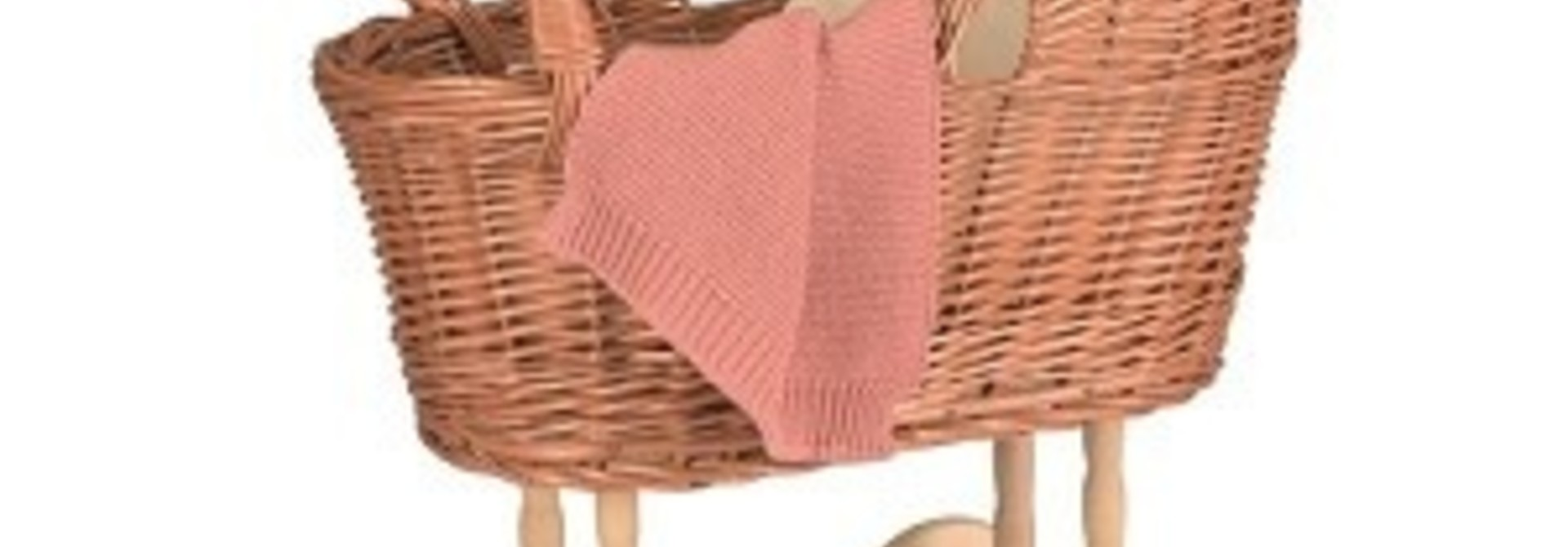 Pram with knitted blanket
