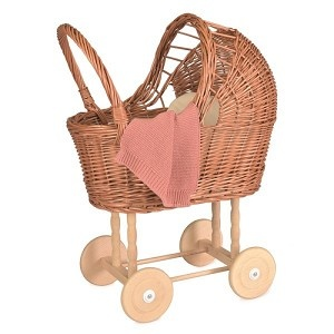 Pram with knitted blanket-1
