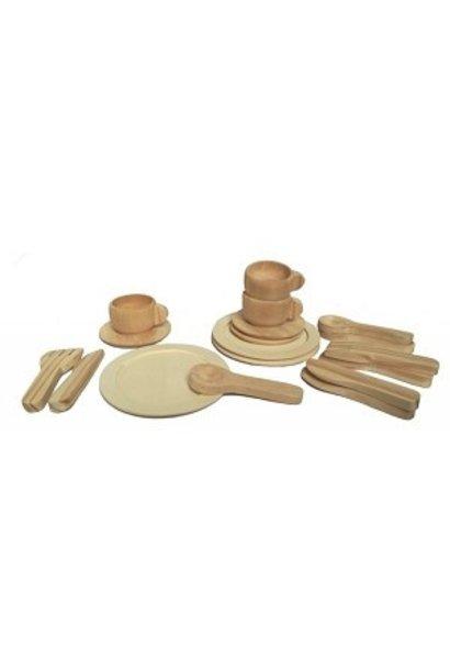 Wooden teaset natural