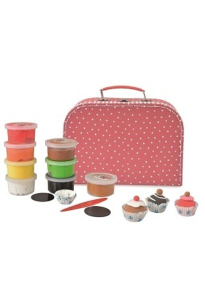 Clay set cupcake with magnet