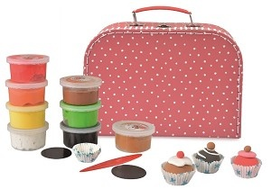 Clay set cupcake with magnet-1