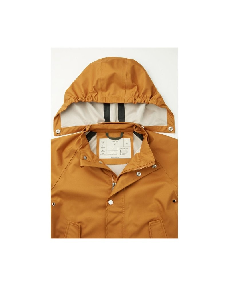 Spencer Long Raincoat Mustard-3