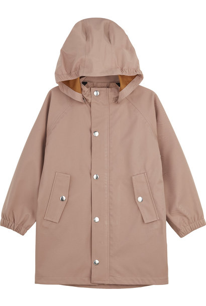 Spencer Long Raincoat Dark Rose