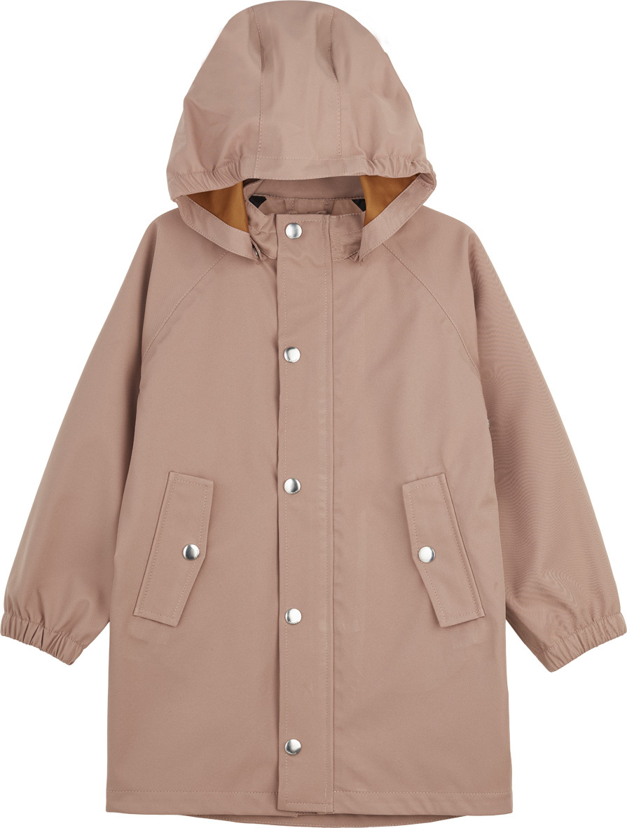 Spencer Long Raincoat Dark Rose-1