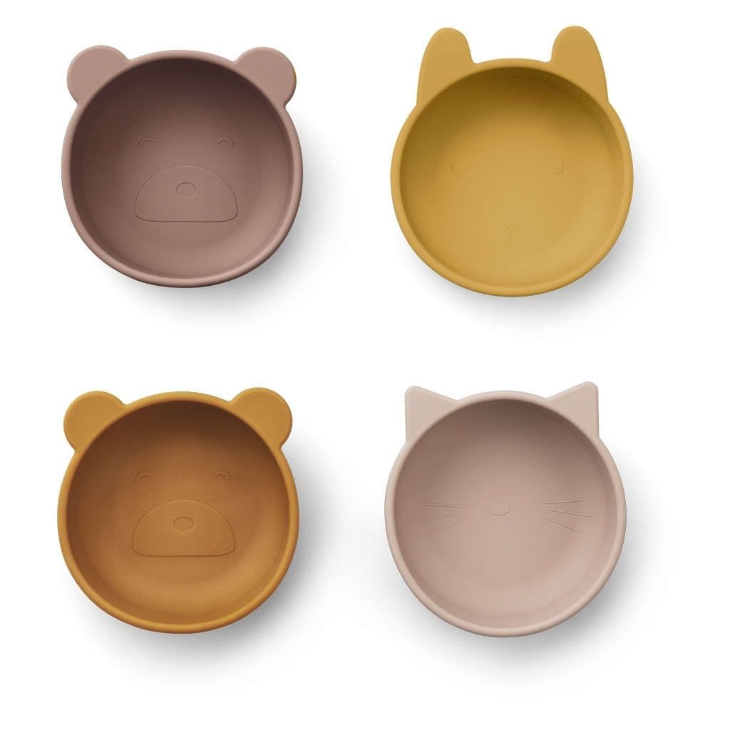 Iggy Silicone Bowl 4-pack-2