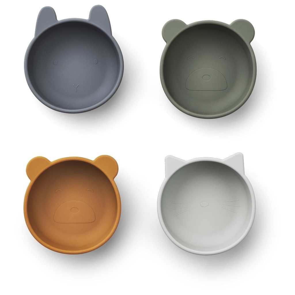 Iggy Silicone Bowl 4-pack-1