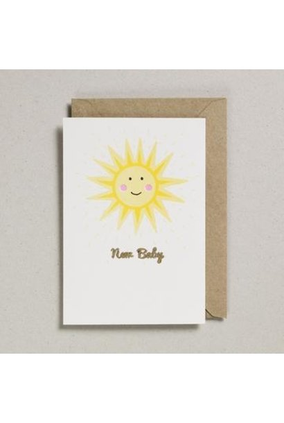 Greeting Card New Baby Sun
