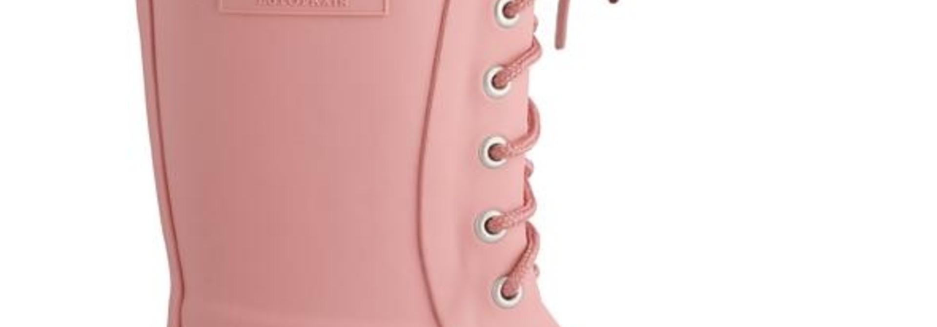 Regenlaars met veter - Roze