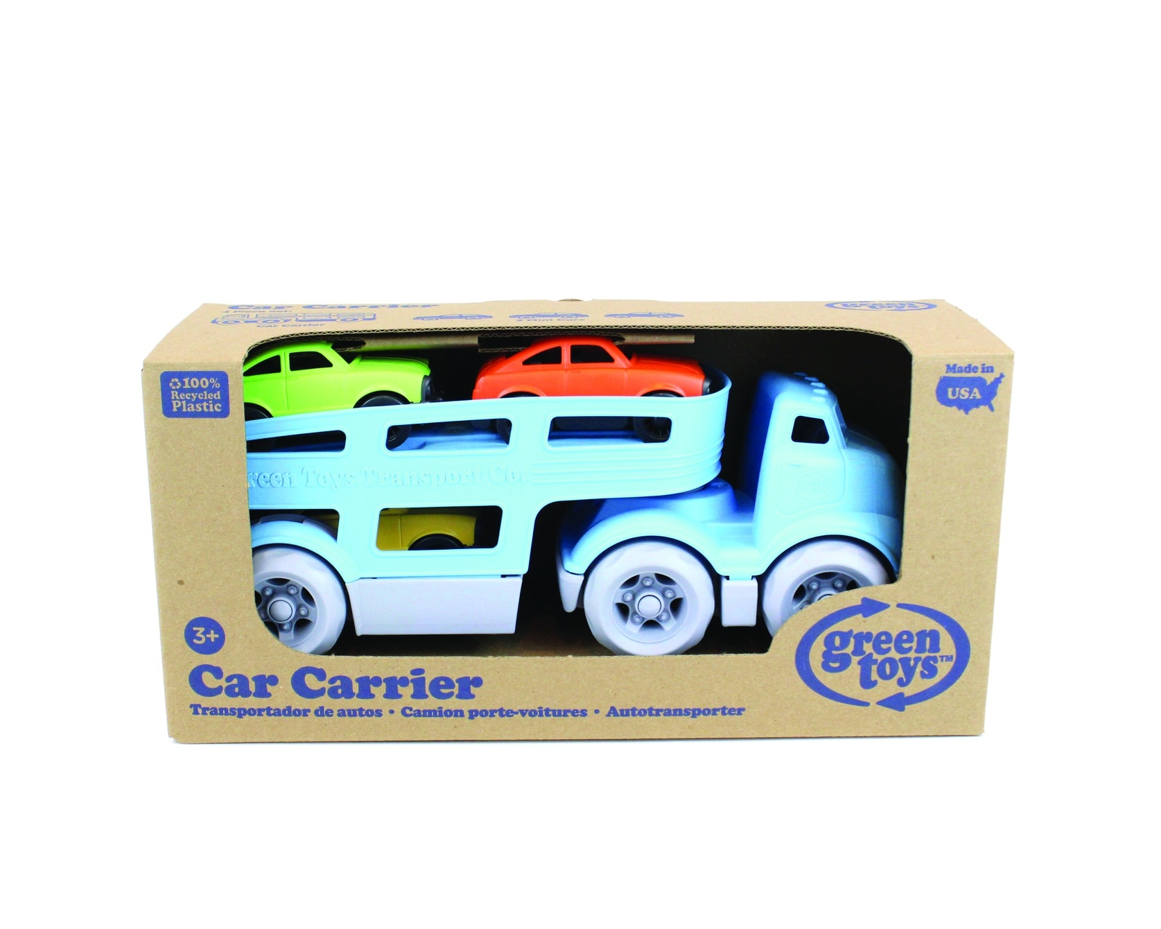 Car carrier with three cars-2