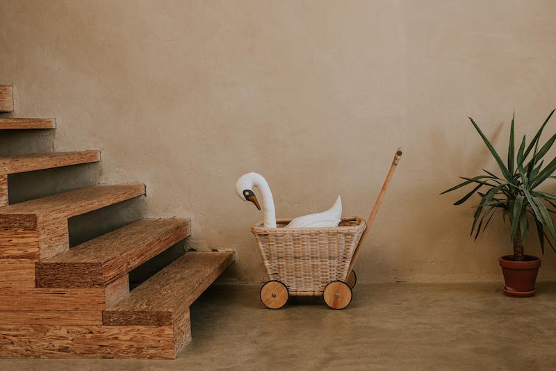 Toy Cart Rattan-1
