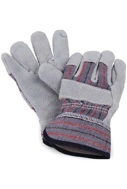 Leather garden gloves 4+