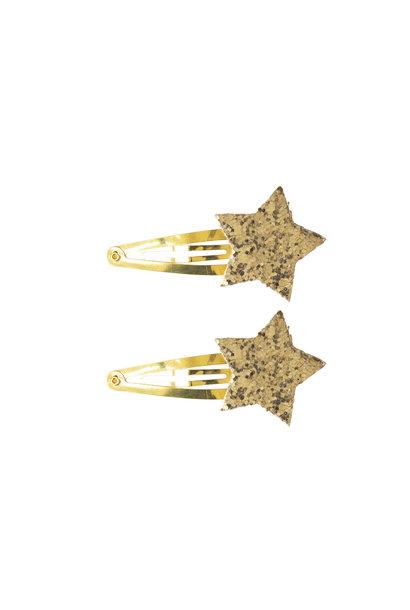 Hair pins glitter stars