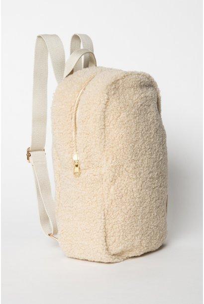 Noos mini teddy backpack ecru