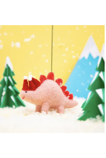 Wonderland Christmas Stegosaurus Felt Decoration