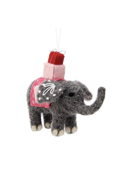 Gift Giving Mandala Elephant Hanging Felt Decoration