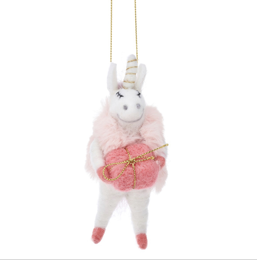 Wonderland Unicorn Hanging Felt Decoration-2