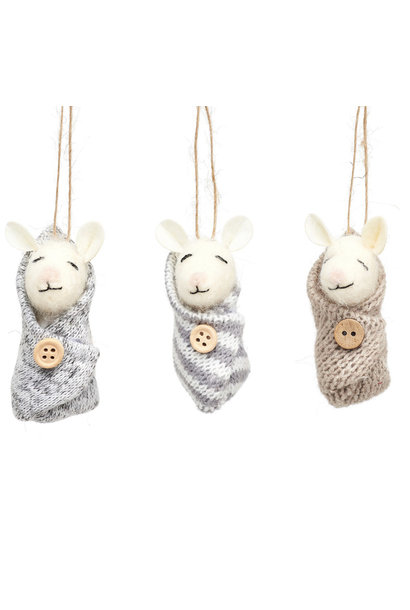 Baby Mice Felt Decoration