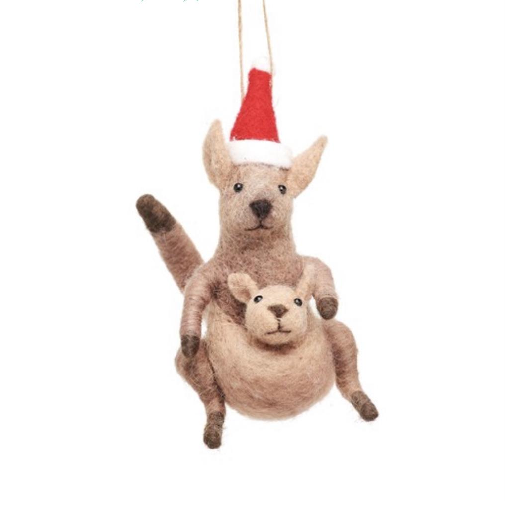 Kangaroo and Baby Felt Decoration-1