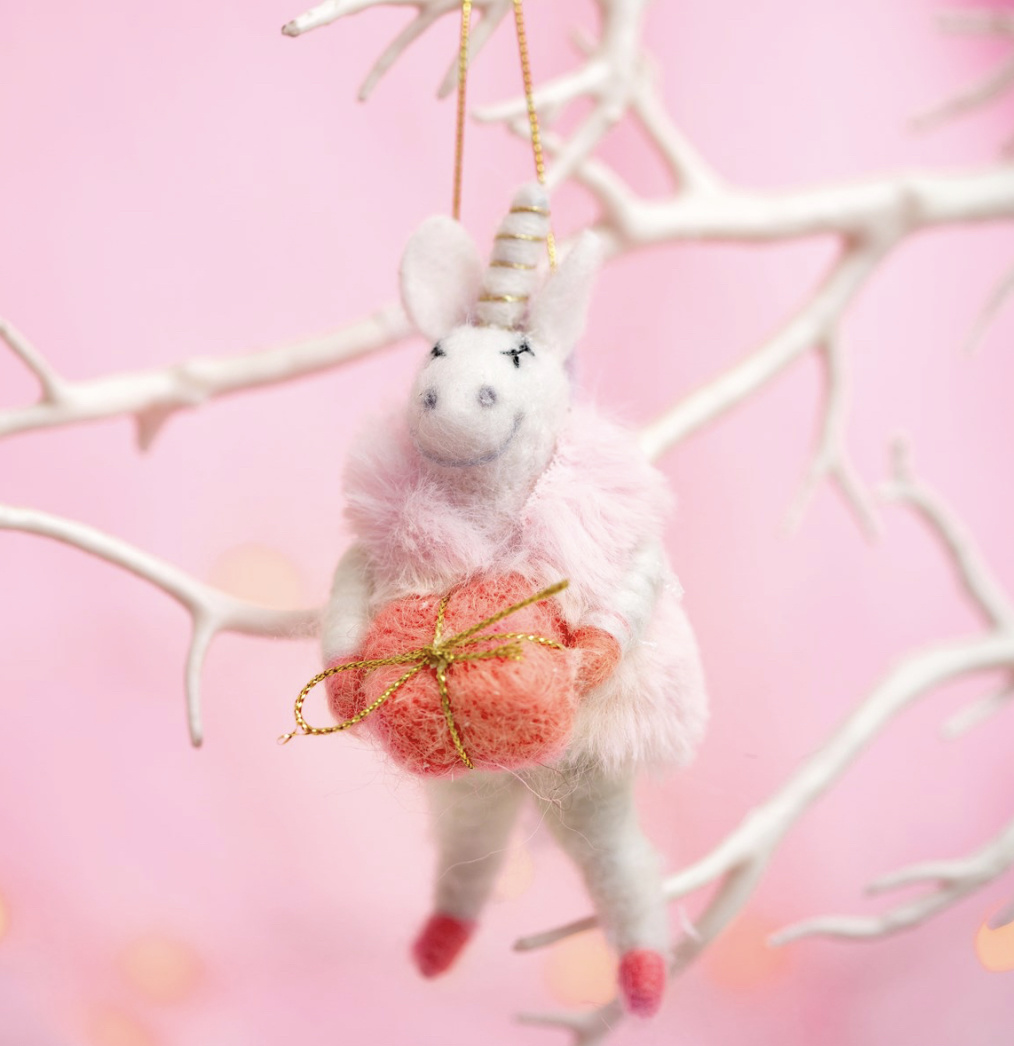 Wonderland Unicorn Hanging Felt Decoration-1