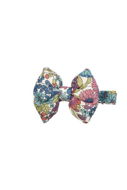 Aligator hair clip Bow with Flowers
