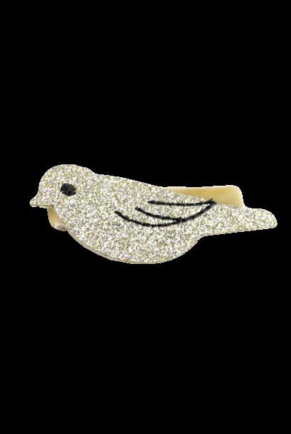 Aligator clip Bird Gold