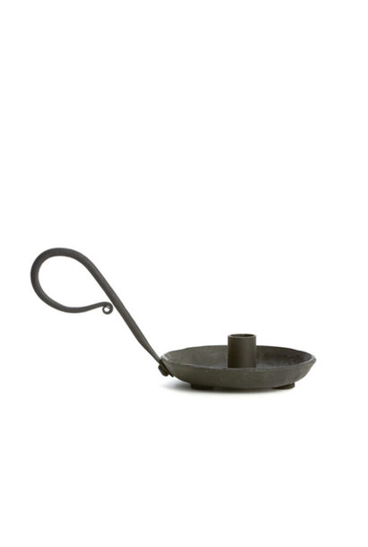 Zwarte kandelaar klein - diameter 1,2cm