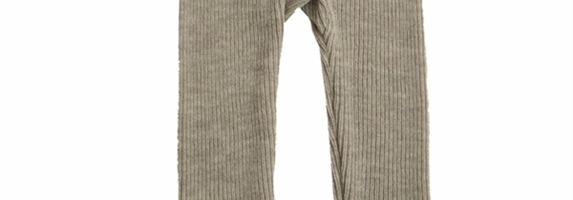 Legging rib - Merino wol - Beige melange