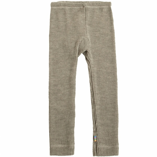 Legging rib - Merino wol - Beige melange-1