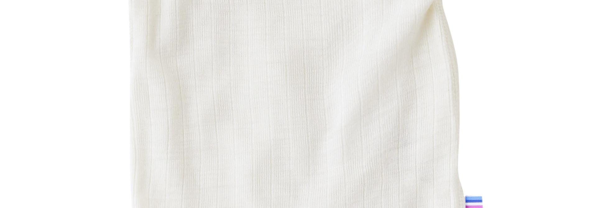 Romper korte mouwen - wol-zijde - Naturel