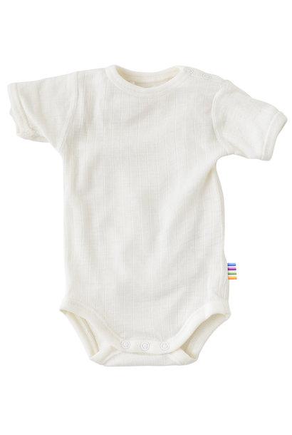 Bodysuit short sleeves - wool-silk