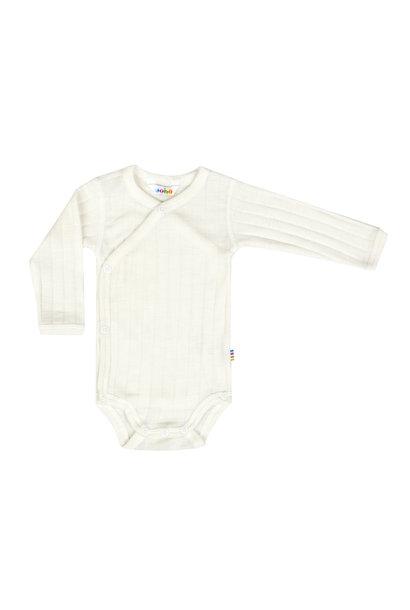 Bodysuit wrap long sleeves - wool-silk
