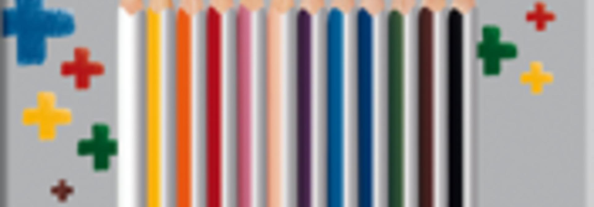 Kleurpotloden plus - doos 12 stuks