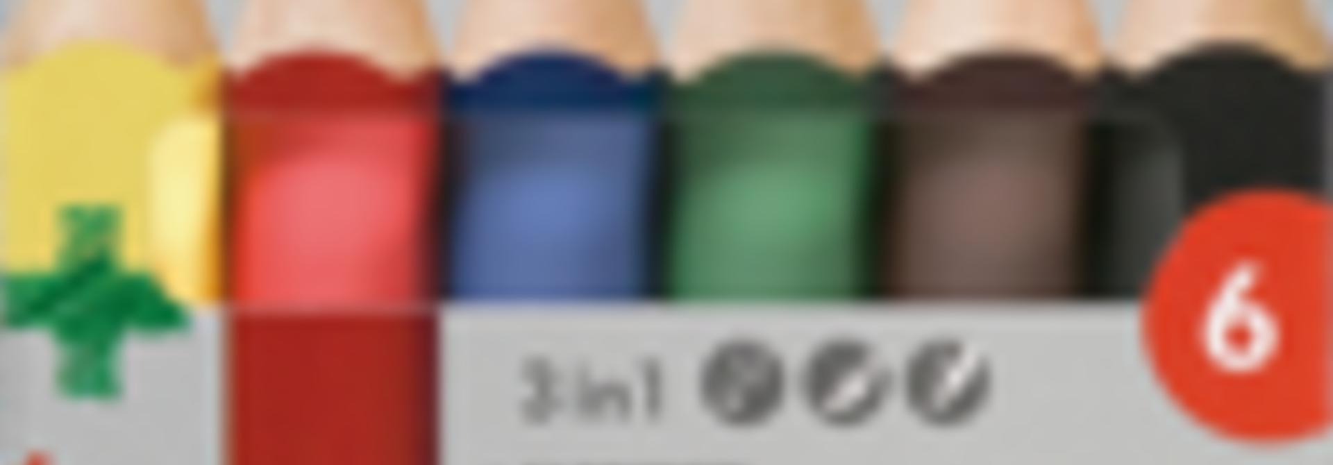 Color pencils 3plus - 6 pcs
